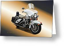 Harley Classic Gold Greeting Card