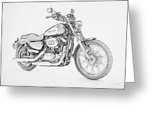 Harley Davidson 1200 Custom Greeting Card