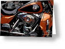 Leather And Chrome Greeting Card