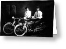 William Harley And Arthur Davidson, 1914 -- The Founders Of Harley Davidson Motorcycles Greeting Card