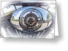 Harley Davidson Motorcycles Art Greeting Card