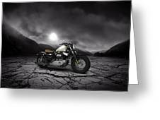 Harley Davidson Sportster Forty Eight 2013 Mountains Greeting Card
