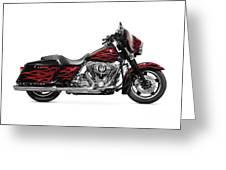 Harley-davidson Street Glide Motorcycle Greeting Card