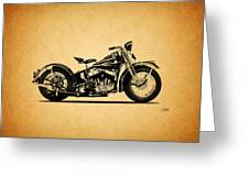 Harley Davidson Ulh 1941 Greeting Card