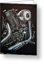 Harley Engine Greeting Card