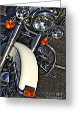 Harley Frontal In White Greeting Card