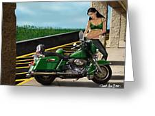 Harley Girl Greeting Card