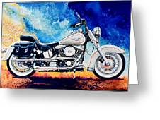 Harley Hog II Greeting Card
