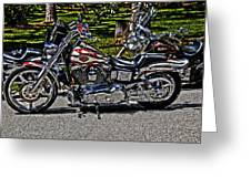 Harley In Hdr Greeting Card