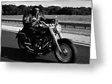 Harley Man Greeting Card