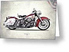 Harley Model Fl 1960 Greeting Card