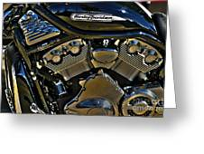 Harley Power Plant Greeting Card