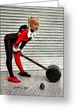 Harley Quinn Classic  - Free Style -  - Da Greeting Card