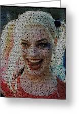 Harley Quinn Quotes Mosaic Greeting Card
