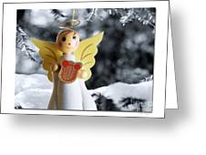 Harp The Herald Angels Sing Greeting Card