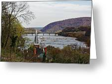Harpers Ferry - Shenandoah Meets The Potomac Greeting Card