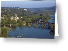 Harpers Ferry West Virginia From Above Greeting Card by Brendan Reals