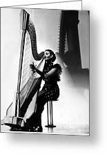 Harpist, 1935 Greeting Card
