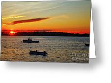 Harpswell Sunset Greeting Card