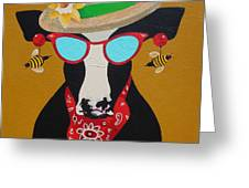 Harriet Honeybee Holstein Greeting Card