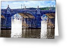 Harrisburg Pa - Market Street Bridge Greeting Card