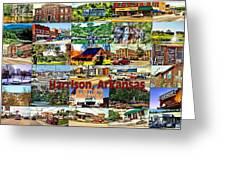 Harrison Arkansas Collage Greeting Card by Kathy Tarochione
