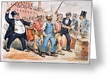 Harrison Cartoon, 1888 Greeting Card