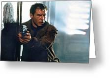 Harrison Ford As Rick Deckard A Blade Runner  In Blade Runner 1982 Greeting Card