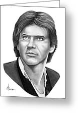 Harrison Ford - Hans Solo Greeting Card