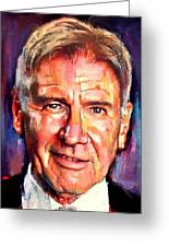 Harrison Ford Indiana Jones Portrait 2 Greeting Card