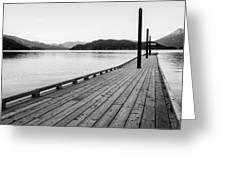 Harrison Lake Pier, Bc Greeting Card