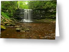 Harrison Wrights Falls In The Forest Greeting Card