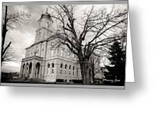 Harrisonburg, Rockingham County Courthouse, Virginia - Bw 1 Greeting Card