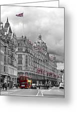 Harrods Of Knightsbridge Bw Hdr Greeting Card