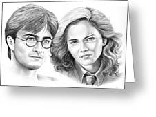 Harry Potter And Hermione Greeting Card