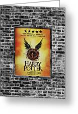 Harry Potter London Theatre Poster Greeting Card