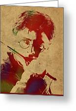 Harry Potter Watercolor Portrait Greeting Card