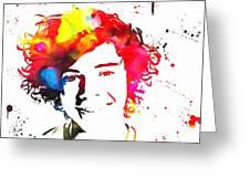 Harry Styles Paint Splatter Greeting Card