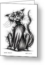 Harry The Cat Greeting Card