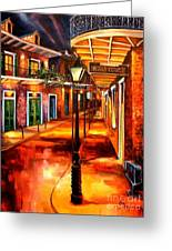 Harrys Corner New Orleans Greeting Card by Diane Millsap