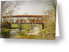 Harshaville Covered Bridge  Greeting Card