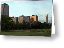 Hartford Skyline Panorama Greeting Card