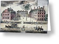 Harvard College, C1725 Greeting Card by Granger