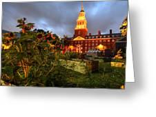 Harvard Community Garden Cambridge Ma Greeting Card