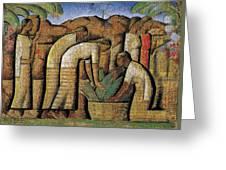 harvest, by Alfredo Ramos Martinez Greeting Card
