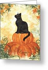 Harvest Kitty Greeting Card