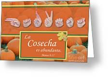 Harvest Spanish Greeting Card