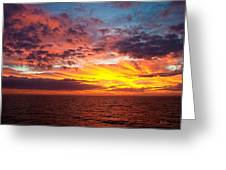 Harvest Sunrise In The Gulf  Greeting Card