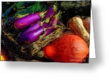 Harvest Veggies Greeting Card