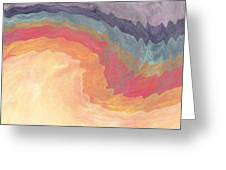 Harvest Wind- Abstract Art By Linda Woods Greeting Card